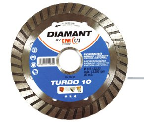 DISCO DIAMANTE TURBO 10 HORMIGON