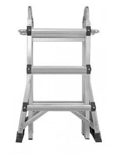 Escalera aluminio 4x3 multiusos 3.72mts Werku
